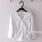 เสื้อคาร์ดิแกนแขนยาว-สีขาว--(5-ตัว/pack)
