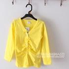 เสื้อคาร์ดิแกนแขนยาว-สีเหลือง--(5-ตัว/pack)