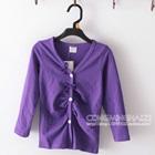 เสื้อคาร์ดิแกนแขนยาว-สีม่วง--(5-ตัว/pack)