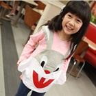 เสื้อแขนยาวกระต่ายยิ้ม-สีชมพู-(5size/pack)