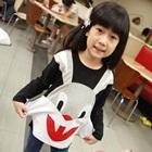 เสื้อแขนยาวกระต่ายยิ้ม-สีดำ-(5size/pack)