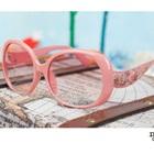 แว่นตากันแดดลายดอกไม้-สีชมพู-(10-คู่/แพ็ค)