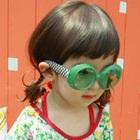 แว่นตากันแฟชั่น-สีเขียว-(10-คู่/แพ็ค)