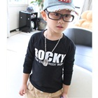 เสื้อแขนยาวเด็ก-Rocky-สีดำ-(5size/pack)
