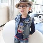 เสื้อแขนยาวเด็ก--Paul-Frank-สีน้ำเงิน-(5size/pack)