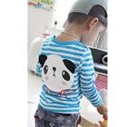 เสื้อแขนยาวเด็กหมีแพนด้า-สีฟ้า-(5size/pack)