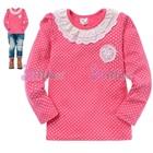 เสื้อแขนยาวคุณหนูแสนหวาน-สีชมพู--(5size/pack)