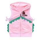 เสื้อแจ็กเก็ตแขนกุดไดโนเสาร์-สีชมพู--(6size/pack)