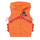 เสื้อแจ็กเก็ตแขนกุดไดโนเสาร์-สีส้ม-(6size/pack)
