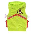 เสื้อแจ็กเก็ตแขนกุดไดโนเสาร์-สีเขียว-(6size/pack)