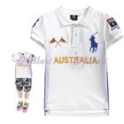 เสื้อโปโลแขนสั้น-Australia-สีขาว-(5size/pack)