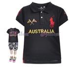 เสื้อโปโลแขนสั้น-Australia-สีดำ-(5size/pack)