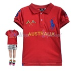 เสื้อโปโลแขนสั้น-Australia-สีแดง-(5size/pack)