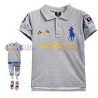 เสื้อโปโลแขนสั้น-Australia-สีเทา-(5size/pack)