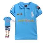 เสื้อโปโลแขนสั้น-Australia-สีฟ้า-(5size/pack)