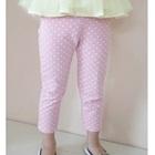 กางเกงขายาวลายจุด-สีชมพู-(5-ตัว/pack)