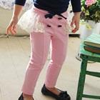 กางเกงขายาวระบาย-สีชมพู-(5-ตัว/pack)