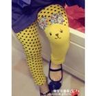 กางเกงเลกกิ้งแมวเหมียว-สีเหลือง-(5-ตัว-/pack)