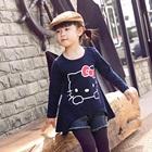 เสื้อแขนยาว-Hello-Kitty-สีน้ำเงิน-(5-ตัว/pack)