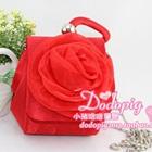 กระเป๋าแฟชั่นดอกกุหลาบ-สีแดง-(5-ใบ/pack)