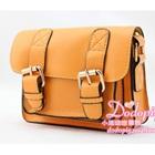 กระเป๋าแฟชั่นทรงสีเหลี่ยม-สีน้ำตาล-(5-ใบ/pack)