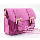 กระเป๋าแฟชั่นทรงสีเหลี่ยม-สีชมพู-(5-ใบ/pack)
