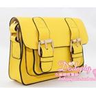 กระเป๋าแฟชั่นทรงสีเหลี่ยม-สีเหลือง-(5-ใบ/pack)