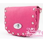 กระเป๋าสะพายข้างประดับหมุด-สีชมพู-(5-ใบ/pack)
