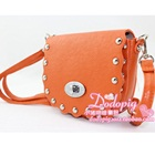 กระเป๋าสะพายข้างประดับหมุด-สีส้ม-(5-ใบ/pack)