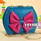 กระเป๋าสะพายข้างโบว์ใหญ่-สีฟ้า-(5-ใบ/pack)