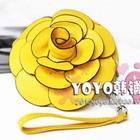 กระเป๋าใส่เหรียญดอกกุหลาบ-สีเหลือง-(5-ใบ/pack)