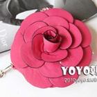 กระเป๋าใส่เหรียญดอกกุหลาบ-สีบานเย็น-(5-ใบ/pack)