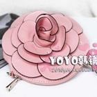 กระเป๋าใส่เหรียญดอกกุหลาบ-สีชมพู-(5-ใบ/pack)