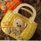 กระเป๋าสานหมีน้อย-สีเหลือง-(5-ใบ/pack)