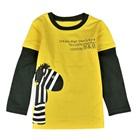 เสื้อแขนยาว-Zebra-สีเหลือง-(5-ตัว/pack)