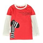 เสื้อแขนยาว-Zebra-สีแดงแตงโม-(5-ตัว/pack)