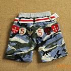 กางเกงขาสั้นลายทหาร-สีฟ้า-(8-ตัว/pack)