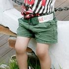 กางเกงขาสั้นพร้อมเข็มขัด-สีเขียว-(8-ตัว/pack)