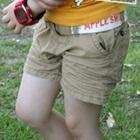 กางเกงขาสั้นพร้อมเข็มขัด-สีกากี-(8-ตัว/pack)