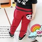 กางเกงขายาวหมีแพนด้า-สีแดง-(5-ตัว/pack)