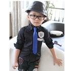 เสื้อเชิ๊ตแขนยาวหนุ่มออฟฟิศ-สีดำ-(5-ตัว/pack)