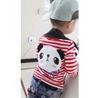 เสื้อแขนยาวเด็กหมีแพนด้า-สีแดง-(5size/pack)