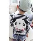 เสื้อแขนยาวเด็กหมีแพนด้า-สีดำ-(5size/pack)
