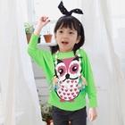 เสื้อแขนยาวนกฮูกตาโต-สีเขียว-(4size/pack)