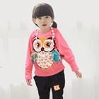 เสื้อแขนยาวนกฮูกตาโต-สีชมพู-(4size/pack)