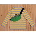 เสื้อแขนยาวลายขวาง-สีเหลือง-(4size/pack)
