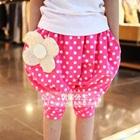 กางเกงขาสามส่วนดอกไม้ใหญ่-สีชมพู-(5-ตัว/pack)