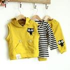เซ็ตเสื้อกางเกงพร้อมเสื้อนอก-สีเหลือง-(4-ตัว/pack)