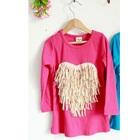เสื้อแขนยาว-Love-Tassels-สีชมพู-(5size/pack)
