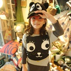 เสื้อแขนสั้นแมวเหมียว-สีเทา-(5size/pack)